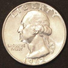 US Silver Quarter Dollaro George Washington 1962 D ARGENTO BANCA freschi timbro lucentezza