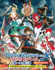 Anime DVD: Tales Of Zestiria The X (Season 1+2) *English Dubbed* + Extra DVD