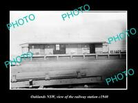 OLD LARGE HISTORIC PHOTO OF OAKLANDS NSW, VIEW OF THE RAILWAY STATION 1940