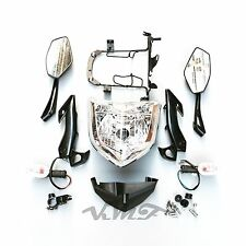 Head Light Assembly Headlight Set Turn Light+Mirror For Yamaha FZ1N 06 07 08 09