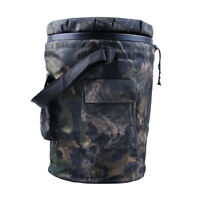 Hunting Spinning/Swivel Padded Camo Bucket Seat with Storage Pockets for Fishing