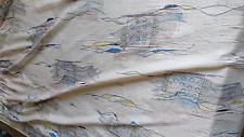 kultiger Design Vorhang der 50er Jahre Stoff Gardine Store 158cm lang