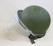 Military US Army Steel Pot Helmet and Shield No Liner