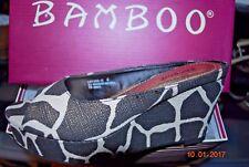 NEW Bamboo Levana Metallic 'giraffe' print wedged slides for women size 6