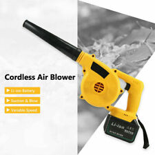 21V 298VT Cordless Dual-Use Electric Air Blower Set Dust Collector batter Yellow