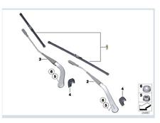 Genuine BMW 3 Series Wiper Blades PN: 61612455438 NEW UK