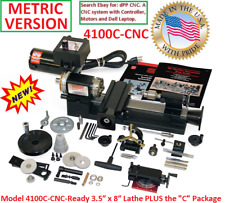 "SHERLINE 4100C-CNC 3.5"" X 8"" LATHE (METRIC) + ""C"" Package. (INCH SEE 4000C-CNC)"