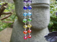 Rainbow Crystal Earrings. Long Earrings. Handcrafted In The UK. Great Gift Idea.