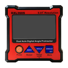 DXL360S Digital LCD Protractor Inclinometer Single  Dual Axis Level Box 0.0 Y5B5
