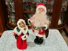 Byers Choice Jingle Bell Santa & Belle Extremely Rare Exclusives Retired Mint