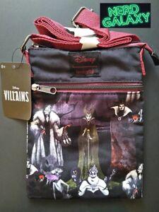 DISNEY VILLAINS Maleficent Cruella Ursula Queen Passport Crossbody Bag LOUNGEFLY
