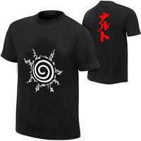 Naruto Sasuke Kakashi Anime Men Women T Shirt Cotton Black