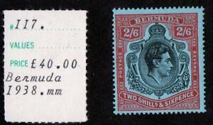 BERMUDA.1938 2/6. MOUNTED MINT.  SG#117.