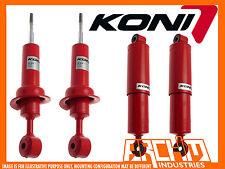 KONI ADJUSTABLE FRONT REAR 50mm RAISED SHOCKS ABSORBERS FOR NISSAN NAVARA D40