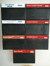 MAR SEGA MASTER SYSTEM SMS -ACTION CHAMP CLASS RACER SUPER PACMANIA RESCUE LOT H