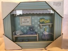Wood Framed Shadow Box 3D Gift For Baby Boyl Room Decor