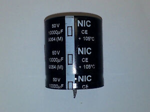 NIC 1000 uF 200 Volt Snap Lead Electrolytic Capacitor NRLM Series USA Seller