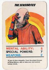 Original 1978 Dr Doctor Who Top Trumps type card The Sensorites