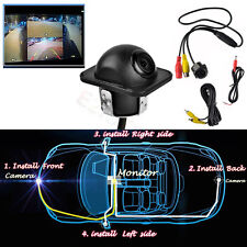 360 Full View Car Rear Mirror Side CCD Backup Parking Front DVR Camera Lens