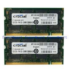 New 2GB 2X1GB PC3200 DDR1 400MHZ 200Pin SODIMM Laptop Memory NON-ECC Ram