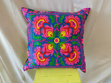 HOUSSE DE COUSSIN ETHNIQUE BRODE H' MONG NEUF/ H' MONG CUSHION COVER EMBROIDERED