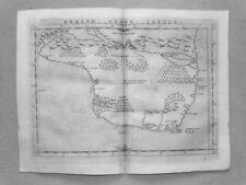 Brasil Nuova Brazil South America La Geografia Ptolemaeus copper map 1574