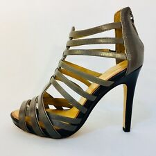 NWOB ANN TAYLOR ITALY shoes, harper leather gladiator heels, anchor, size 6