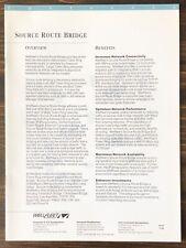 Wellfleet Communications - Source Route Bridge Sales Brochure (1992)