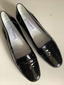 Bruno Magli Black Patent Shoes Size 6 (39)