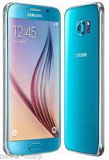 "Samsung Galaxy S6 Duos SM-G920FD Blue (FACTORY UNLOCKED) 5.1"" QHD , Dual Sim"