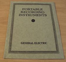 "1926 Advertising Booklet~""General Electric""~Portable Recording Instruments~"