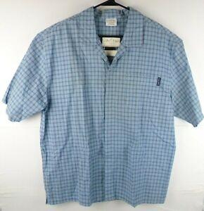 NWT Calvin Klein Mens Large Blue SleepWear Top Button Down Short Sleeve Shirt