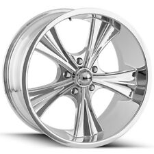 "Staggered Ridler 651 18x8 & 18x9.5 5x4.5"" +0mm Chrome Wheels Rims"