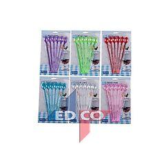 Dessert Spoon -Long Handle Plastic / Sundae /Soda Spoons - 6pc (Asst Colours)