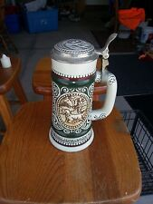 """Avon Collectible stein """"Rainbow Trout, English Setter"""" 1978 handcrafted"""