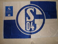 Schalke 04 Fahne dicker Stoff Offizielles Produkt Wetterfest Neu ca 100 x 150 cm