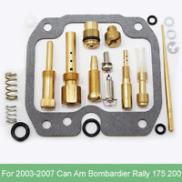 Carburetor Rebuild Kit for Can-Am Bombardier 175 200 Rally 03-07 ATV Carb Repair