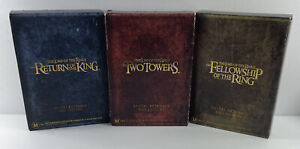 LORD OF THE RINGS Special Extended DVD Edition 12x Disc Set + Booklets  Region 1