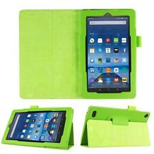 Green Leather Stand Smart Case Cover For 2015 Amazon Kindle Fire HD 7 Tablet FT