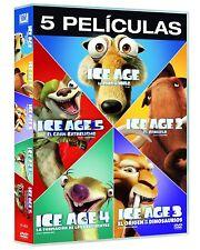 PACK ICE AGE DVD 1 2 3 4 5 NUEVO ( SIN ABRIR ) COLECCION DE 5 PELICULAS