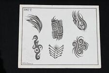 Vintage Spaulding & Rogers Tattoo Flash Sheet Tribal Design #1907T