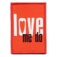 Official Licensed Merch Woven Iron-on PATCH John Lennon THE BEATLES Love Me do