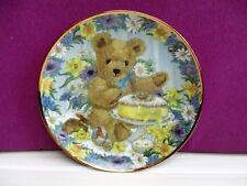 assiette en porcelaine de collection Franklin Mint décor OURS