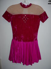 Ladies Womens Rhinestone Ice Skate Skating Costume Outfit Dress-ALA-10-12
