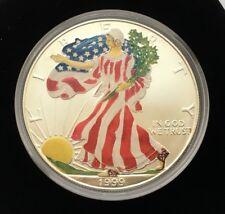 1999 US SILVER EAGLE DOLLAR 1 OZ COLORIZED COIN