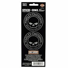 Harley Davidson bike motorcycle decal sticker printed willie g skull  hd set 2