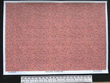 O CALIBRE (1:48 échelle) Brique rustique - PAPIER - A4 Feuille (210 x 297 mm)