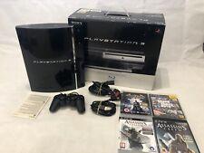 Sony Playstation 3 60GB Console Controller PS3 Juegos En Caja en muy buena condición