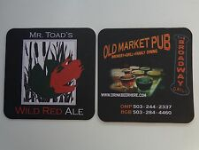 Beer Bar Coaster ~*~ MR. TOAD'S Wild Red Ale ~ Old Market Pub ~ Portland, OREGON