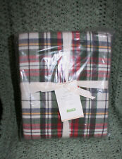 POTTERY BARN DENVER PLAID ORGANIC FLANNEL SHEET SET - FULL